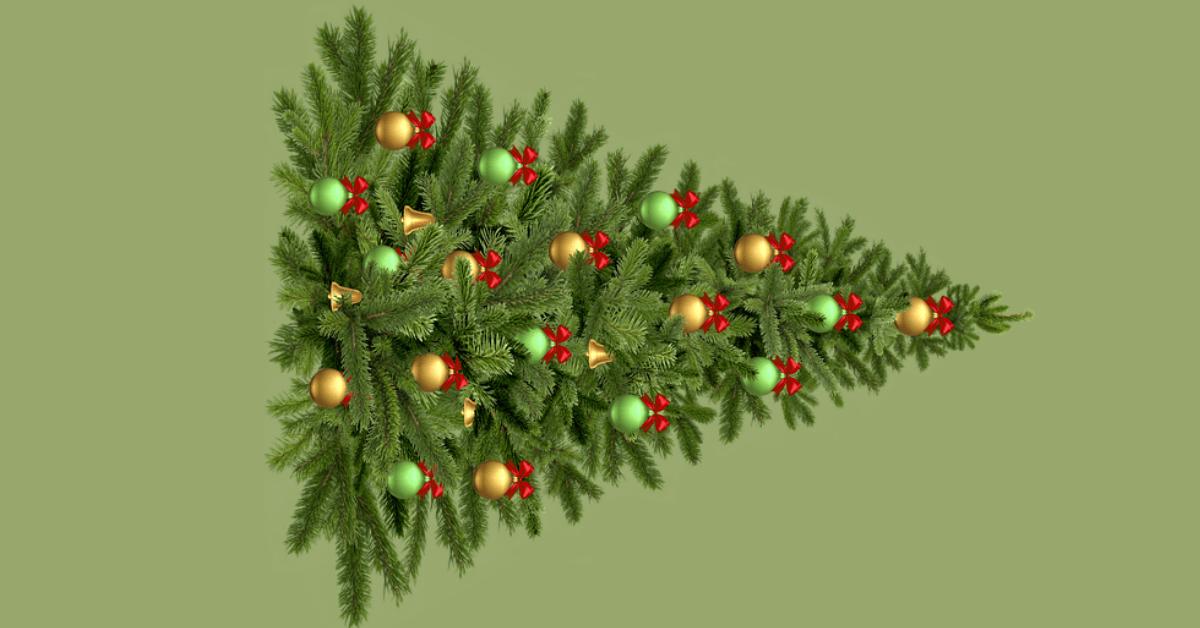 Umgekippter Weihachtsbaum